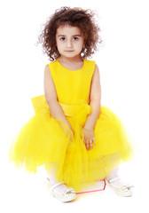 Portrait of a dark-haired little girl
