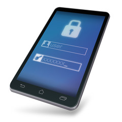 Enter a password on a mobile device