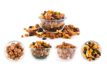 Nuts and raisins set