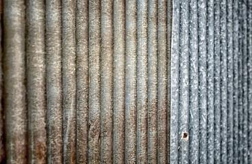 Close up of rust zinc