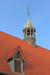 Bredstedt: Dachreiter der spätgotischen Nikolaikirche (1510)
