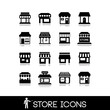 Store icons.Commercial symbol. Shop icons. - 78437927