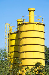Industrial cement mixer towers