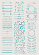 Hand drawn vintage elements collection - 78438754