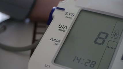 blood pressure - medical digital display - medical diagnosis