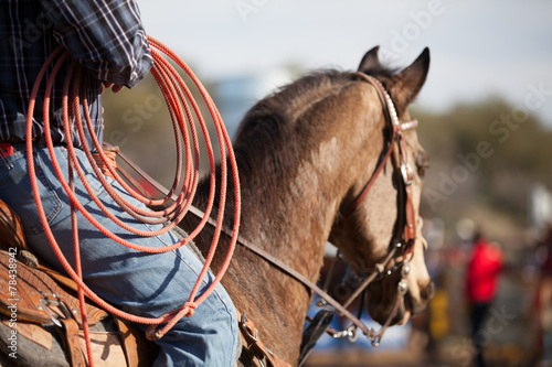 Foto op Canvas Paardensport Rodeo Rider
