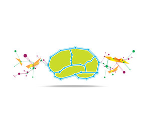 brain abstract background