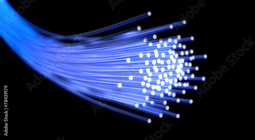 Leinwanddruck Bild Optical fiber