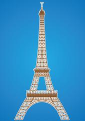 Eifel Tower Vector Illustration