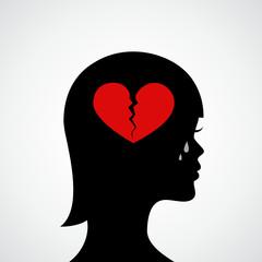 frau trauert um liebe