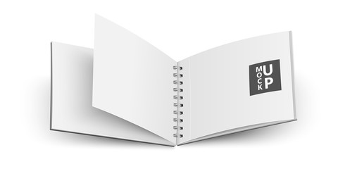 Open notebook. Vector