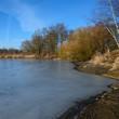 """canvas print picture - Zugefrorener See im """"Land der 1000 Teiche"""""""