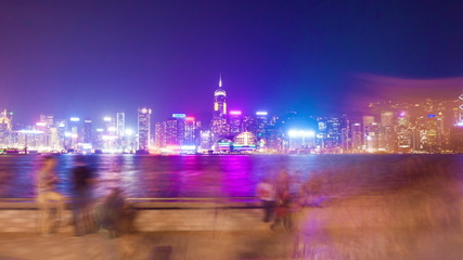 Hyperlapse video of the Victoria Harbour waterfront in Hong Kong