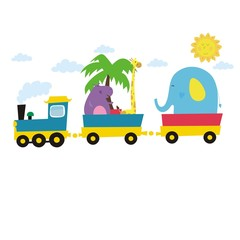 happy train zoo card design