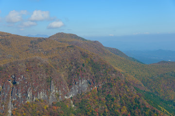 View from the Akechidaira Observatory in Oku-nikko, Tochigi, Jap