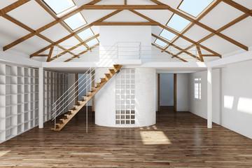 Leerer großer Raum in einem Haus