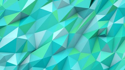 Cyan abstract triangles poly colors geometric shape background