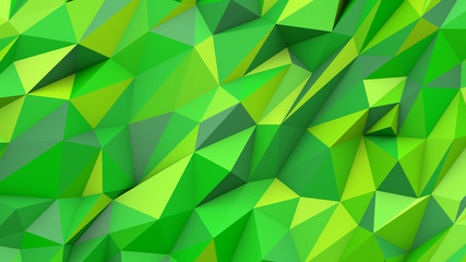 Green lime abstract triangles poly colors geometric background