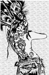 Dayak Girl Tatto