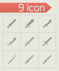 Vector sword icon set