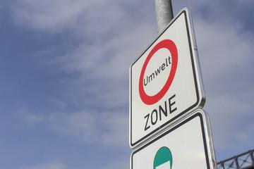 Hinweisschild Umweltzone