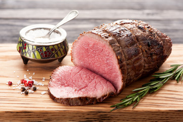 Roast beef with rosemary