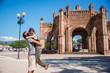 Leinwandbild Motiv Couple in Love at Chiapa de Corzo town, Traveling Mexico.