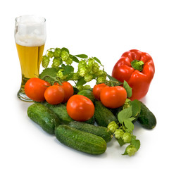 beer and vegetables