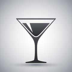 Martini glass icon, vector