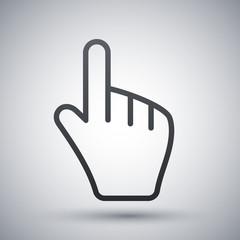 Hand cursor, vector