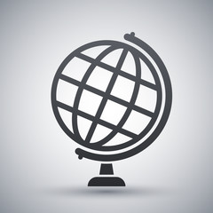 Globe icon, stock vector