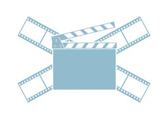 Cinema vector icon on white background