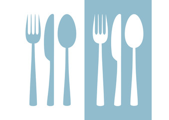 Cutlery vector icon on white background