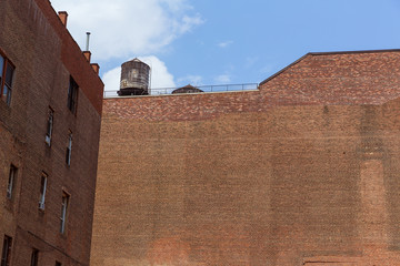 Soho building brickwall in Manhattan New York City