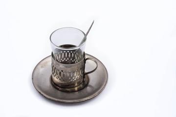Antique tea glass cup holder