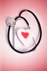 Stehtoskop mit Herz