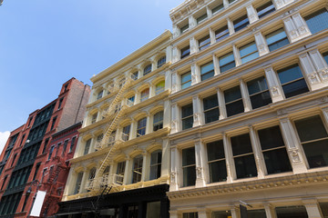 Soho building facades in Manhattan New York City