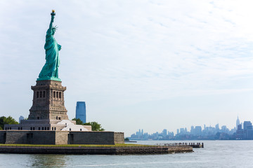 Statue of Liberty New York and Manhattan USA