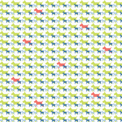 colorful dogs pattern
