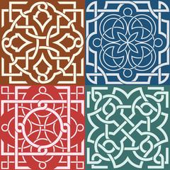 Square patterns-Celtic knot style