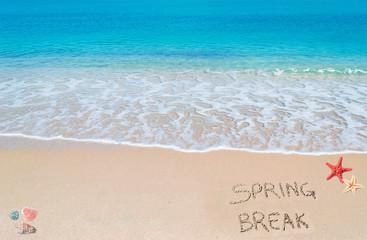 spring break on the sand