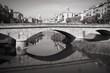 Retro Catalonia - Girona. Black and white.