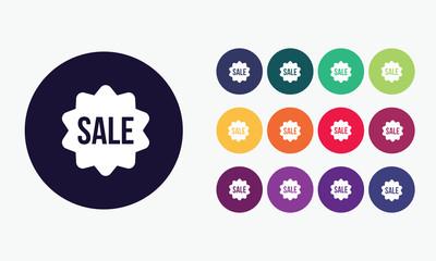 Sale sticker icon.