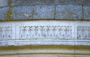 Detail historical mausoleum in Ravenna built by Byzantines
