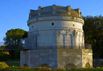 Historical mausoleum in Ravenna built by Byzantines
