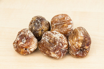 Close up and selective focus on dried Honey Dates
