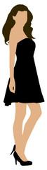 Frau im Kleid