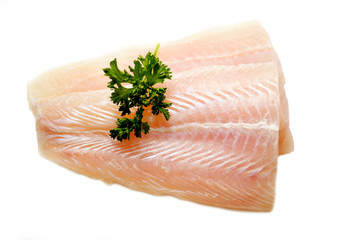 Fresh Pollack Fillets with Fresh Parsley