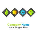 Fototapety logo climatisation chauffage ventilation énergie renouvelable