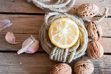 walnuts and lemon